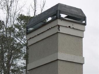 Stucco Chimney Bird Hole Repair